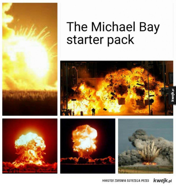 Michael Bay starter pack