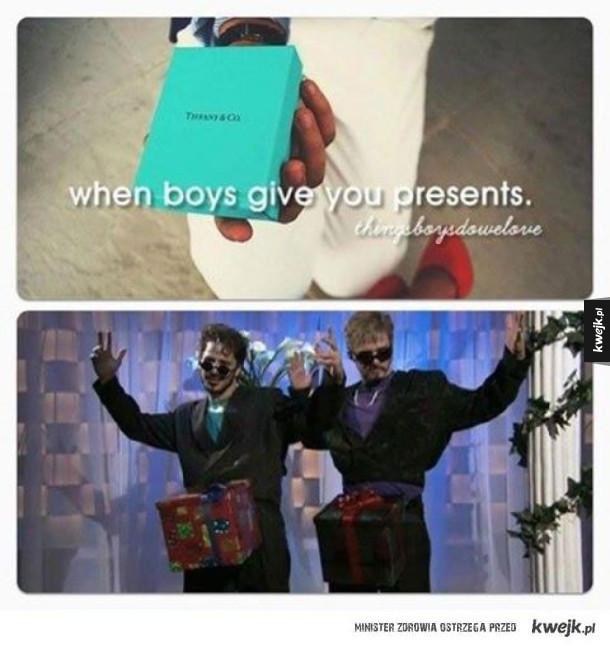Kiedy chłopak daje ci przenty