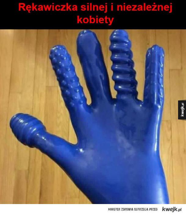Rękawiczka silnej i niezależnej