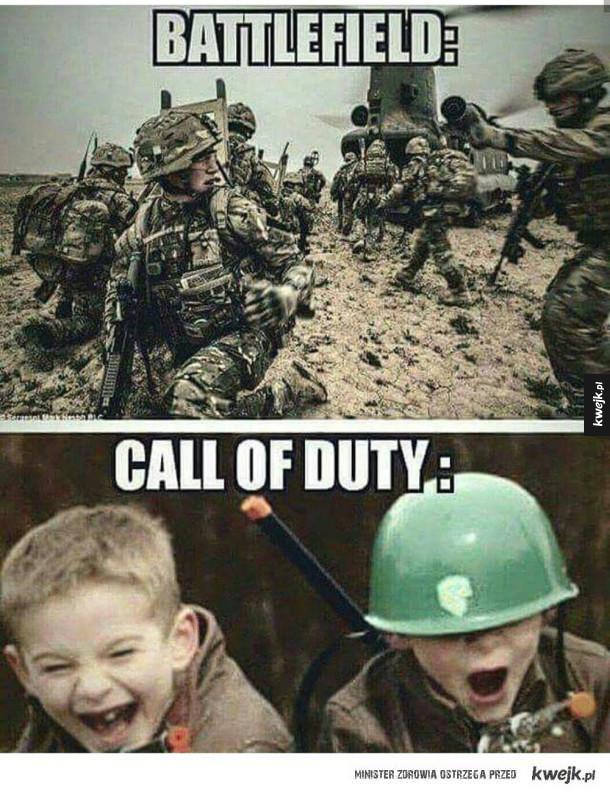 Różnica między Battlefieldem a COD