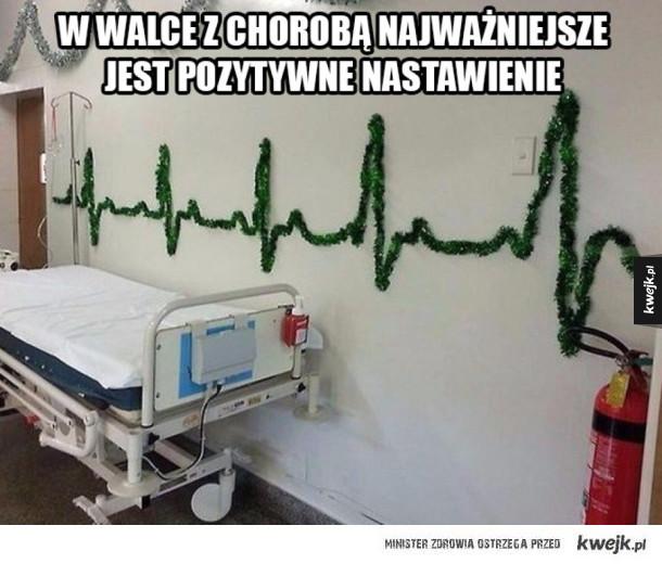 Pozytywne nastawienie w szpitalu