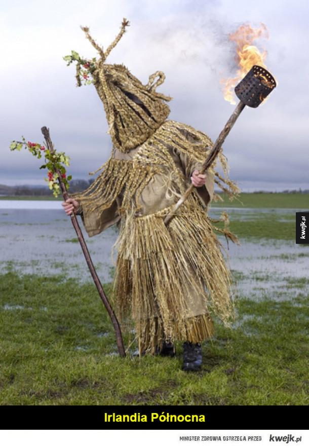 Przerażające kostiumy z pogańskich świąt zimowych