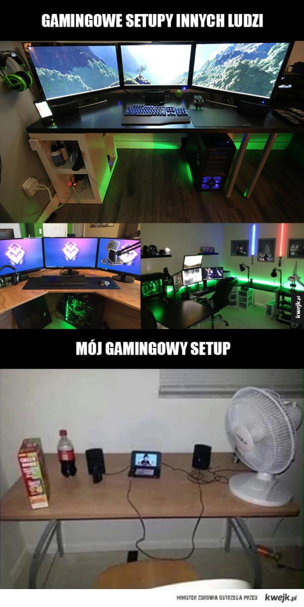 Porównanie gamingowych setupów