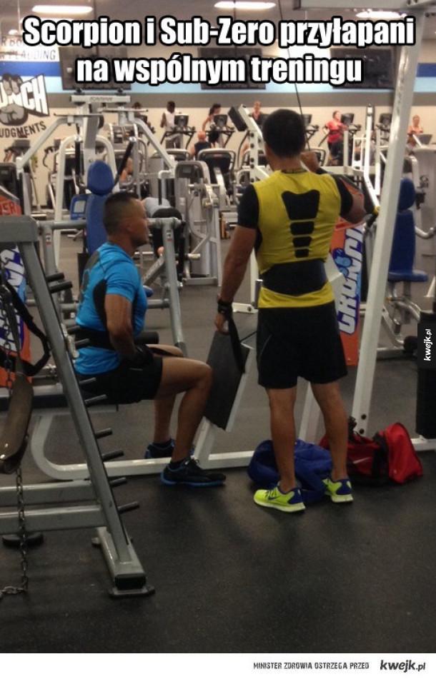 Przyłapani - Scorpion i Sub-zero przyłapani na wspólnym treningu