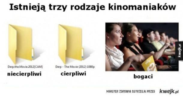 Trzy rodzaje kinomaniaków