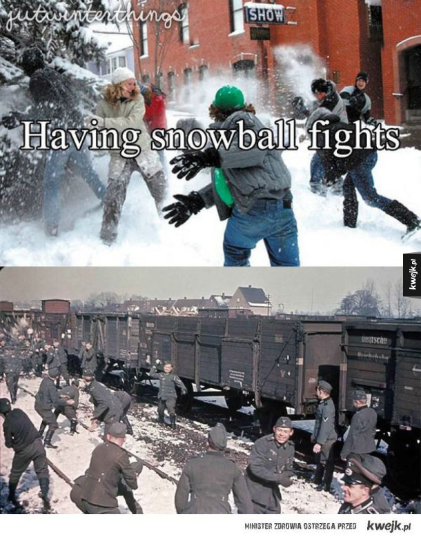 Walka na śnieżki