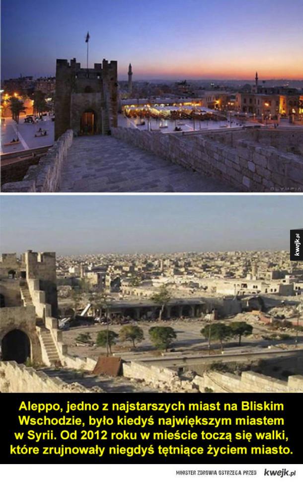 Aleppo zniszczone przez wojnę
