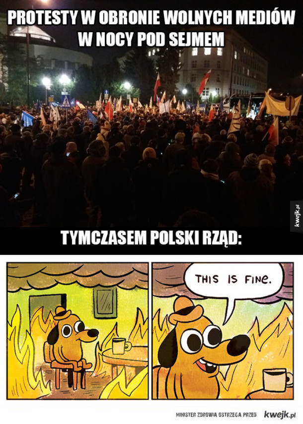 Protesty pod Sejmem