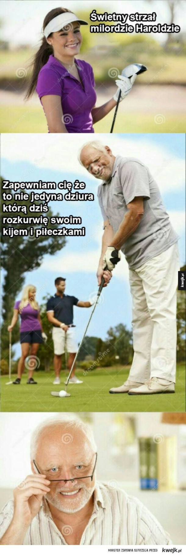 Dziwny pan golfista