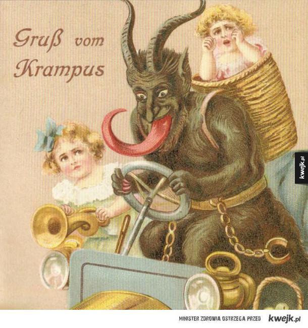 Dziwaczne kartki świąteczne z XIX wieku