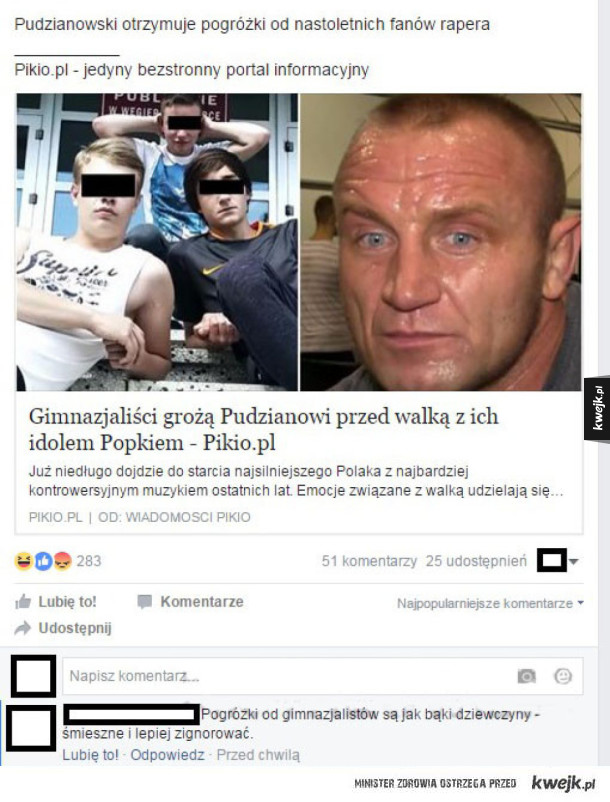 Pudzian vs Fani Popka