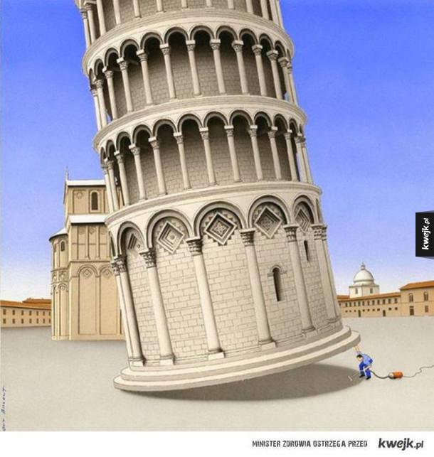 Surrealistyczne ilustracje Guya Billouta