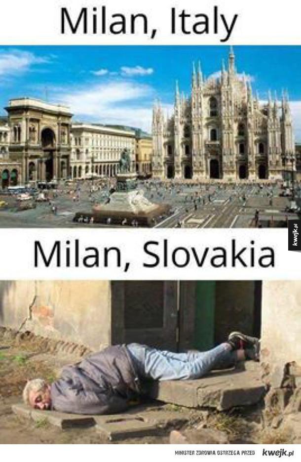 Milan wszędzie innny