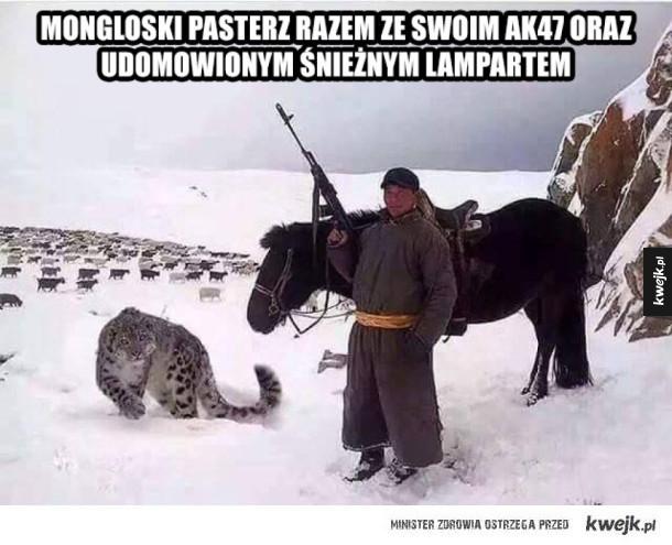 Typowy mongolski pasterz