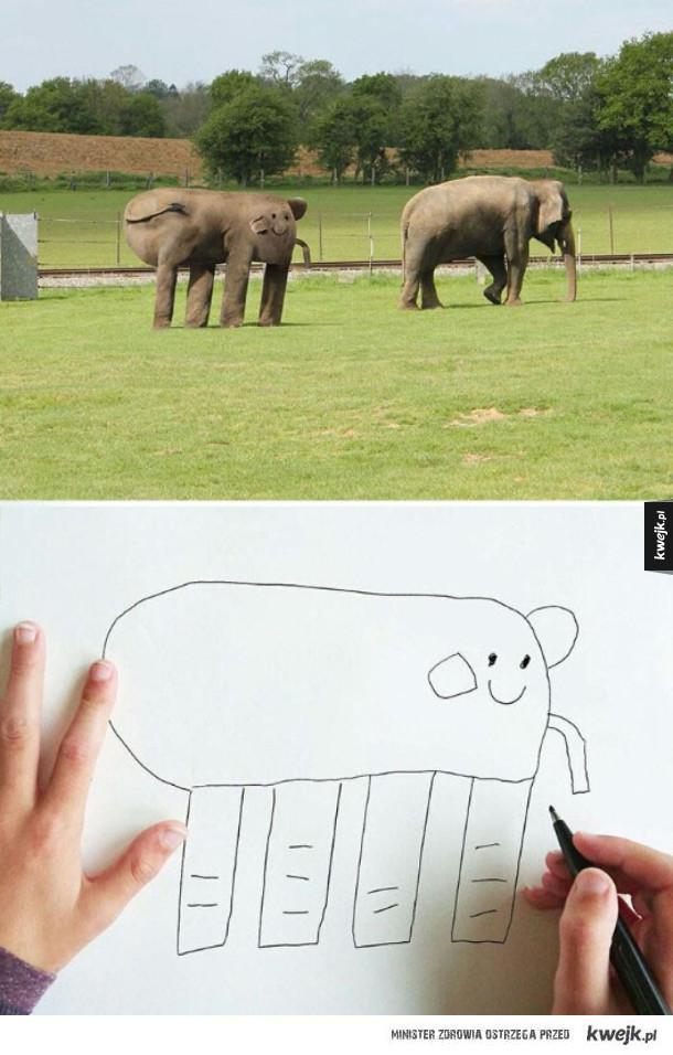 uroczy słonik