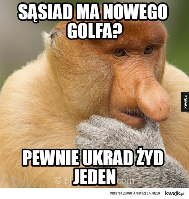 Sąsiad ukradł golfa