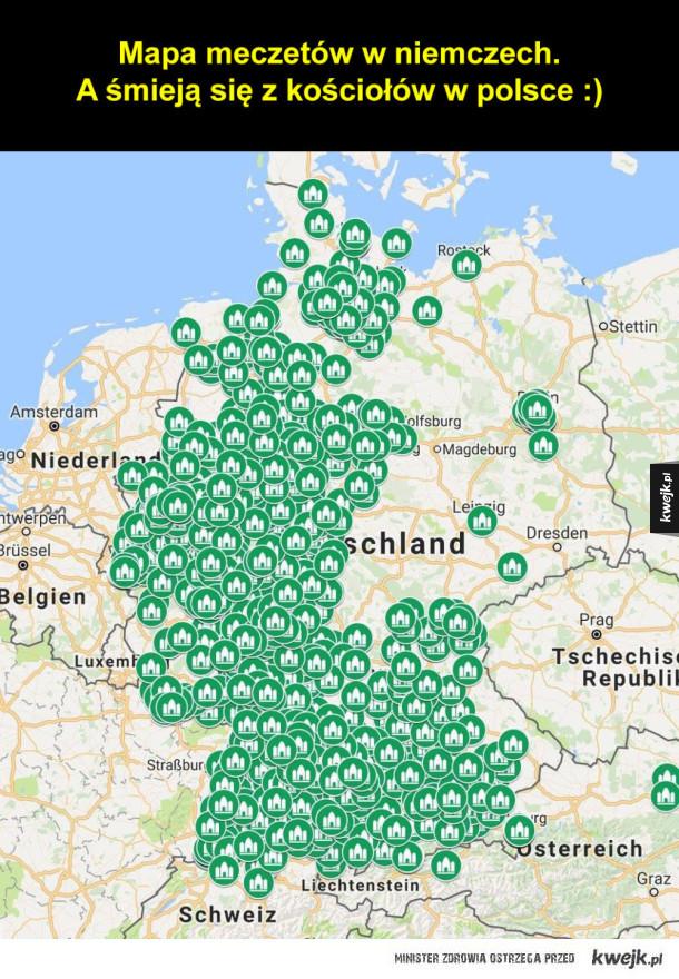 Mapa meczetów