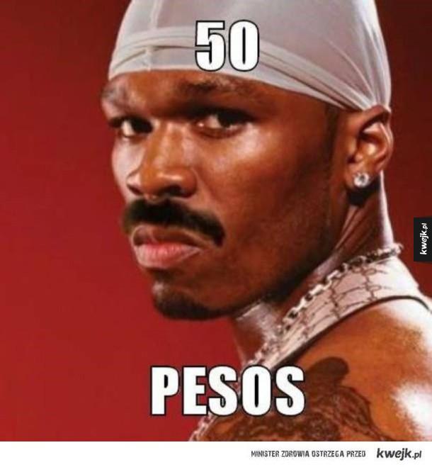 50 pesos sławny raper