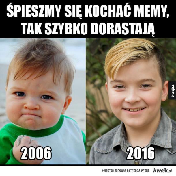 Dzieciak z memów kiedyś i dziś