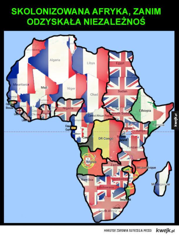 skolonizowana Afryka