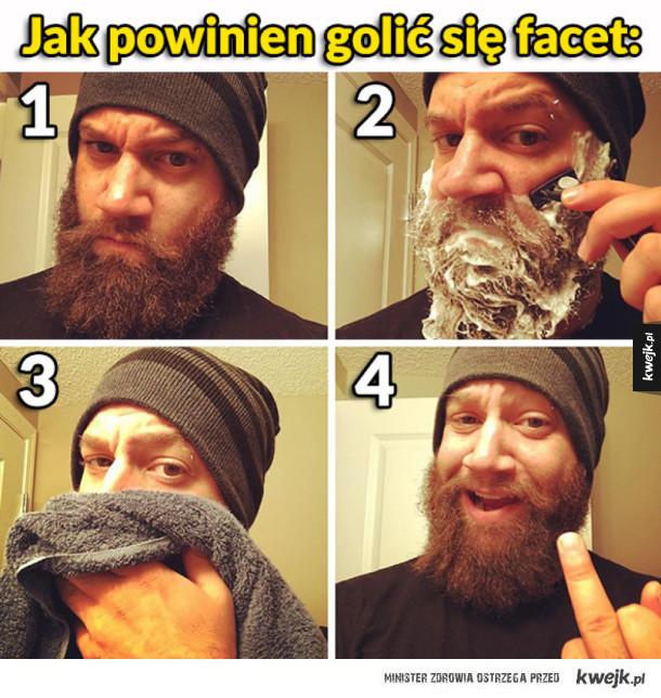 Jak powinien golić się prawdziwy facet