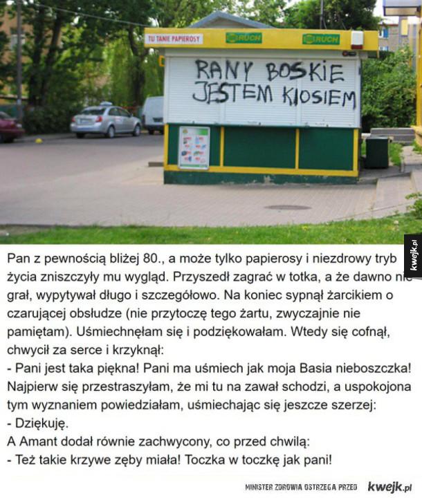 Autentyczne sytuacje  z pewnego polskiego kiosku