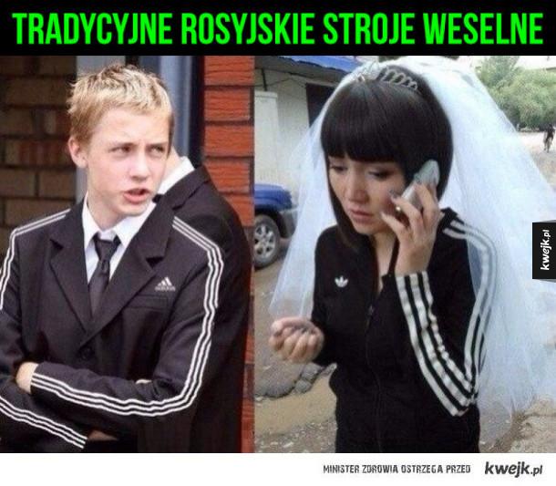 Piękna tradycja - Tradycyjne rosyjskie wesele. Paski dres ślub rosja