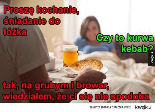 śniadanie Do łóżka Ministerstwo śmiesznych Obrazków Kwejkpl