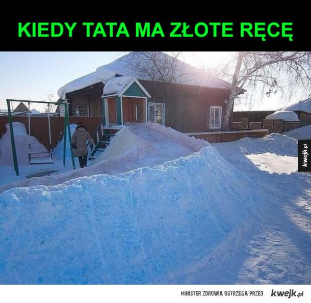 zjeżdżalnia ze śniegu
