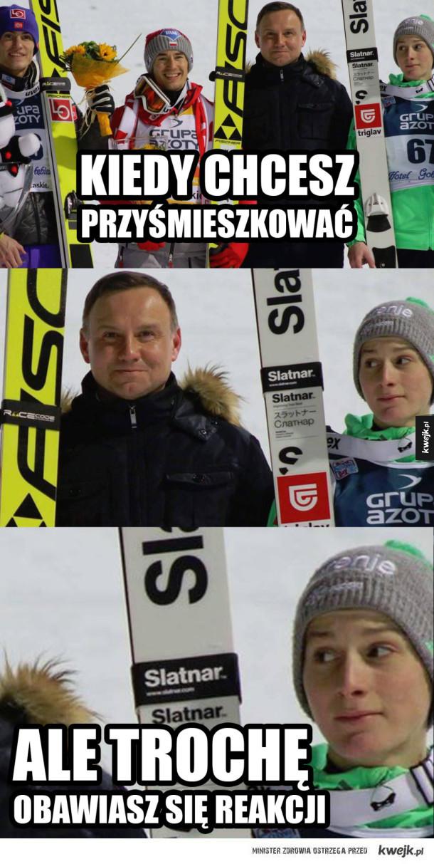 Kolekcja memów po zwycięstwie Kamila Stocha