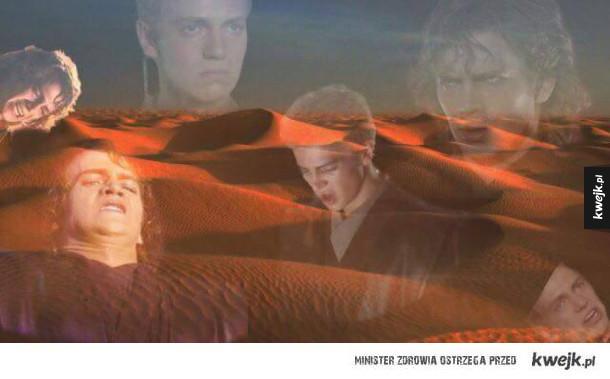 Anakin bardzo nie lubie piasku