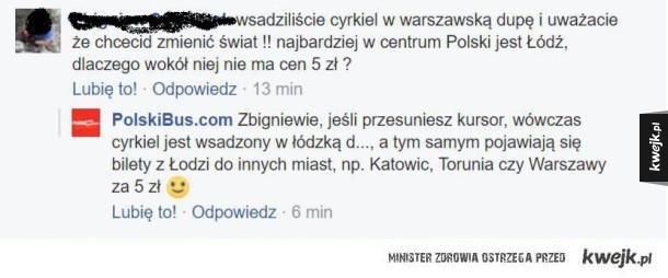Cięta riposta Polskiego Busa