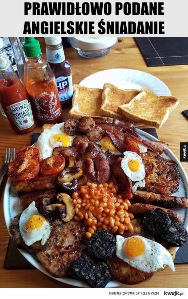 Jadłbym - prawidłowo podane angielskie śniadanie