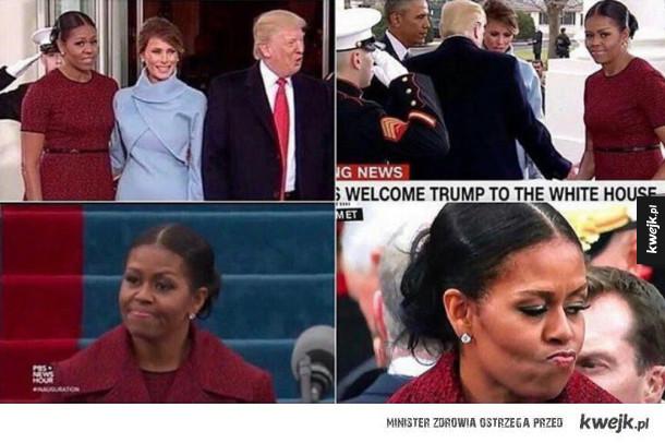 Mina Michelle Obamy wyraża więcej niż tysiąc słów