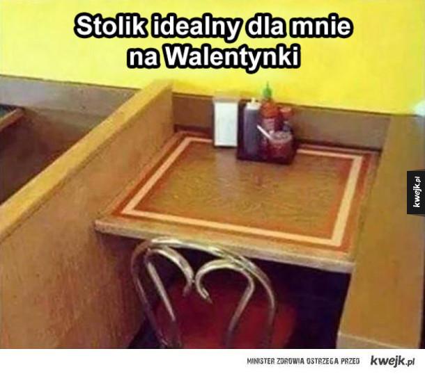stolik na walentynki