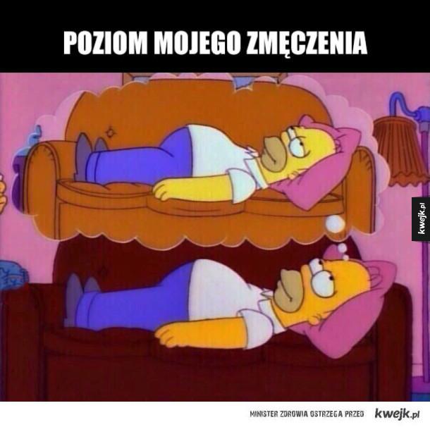 zmęczony Homer