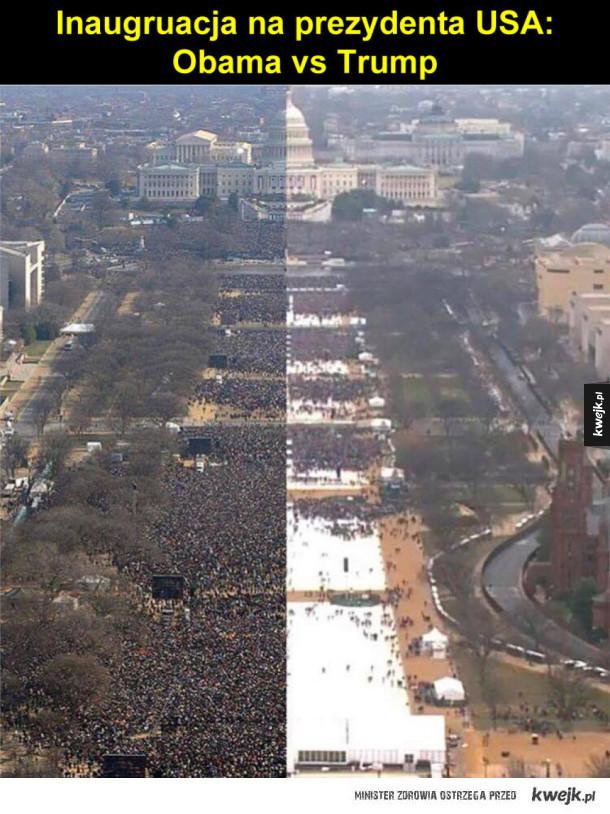 Inaugruacja na prezydenta USA:  Obama vs Trump