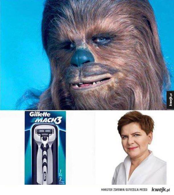 Chewbacca i maszynka do golenia = szydło