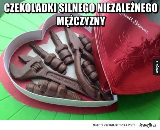 czekoladki niezależnego mężczyzny