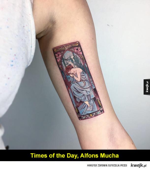 Tatuaże jak dzieła sztuki