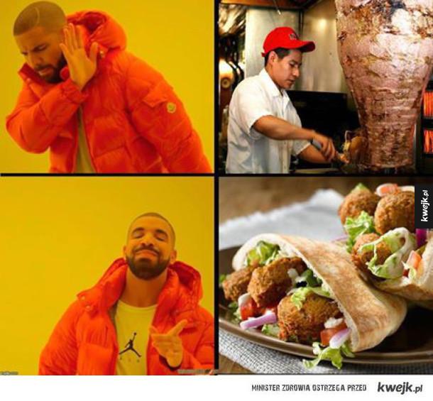 Jedząc falafela osiedlasz przyjaciela