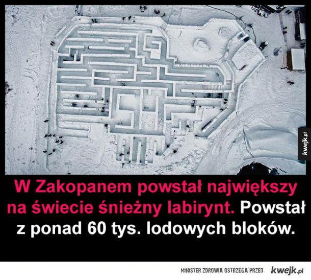 Największy na świecie śnieżny labirynt z Zakopanego
