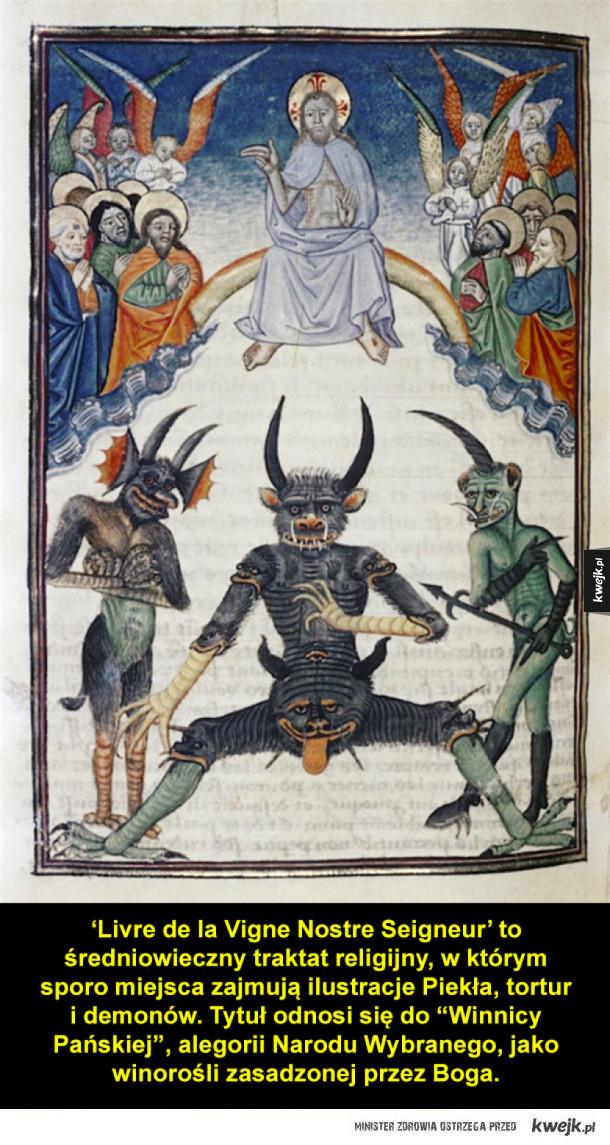 Piekło i demony ze średniowiecznych ilustracji