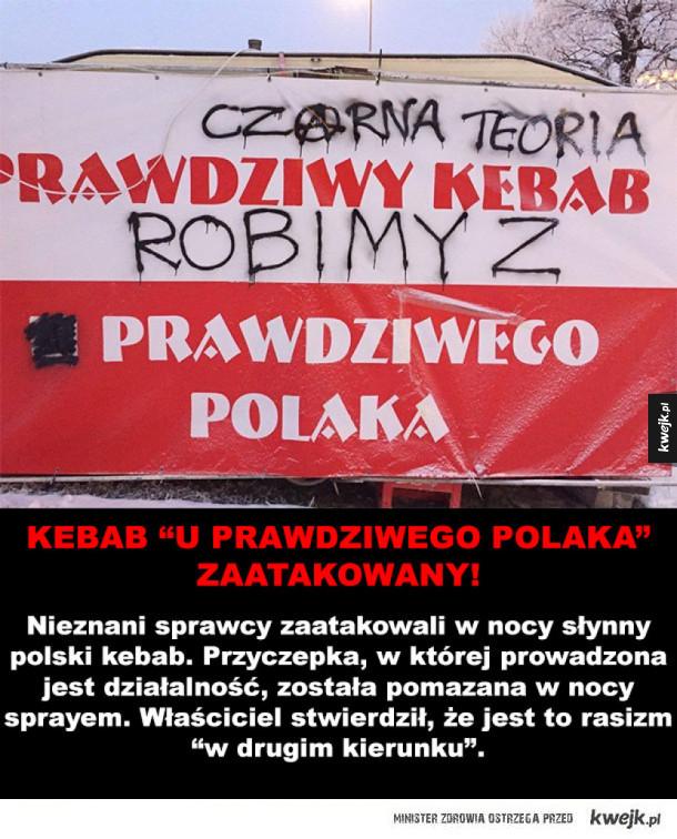 """Wandale zniszczyli kebab """"U Prawdziwego Polaka"""""""
