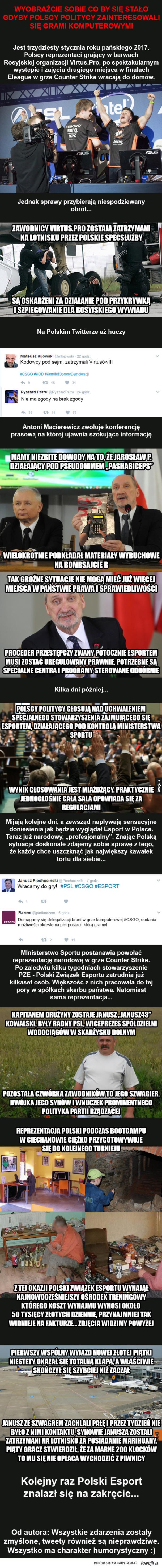 Polscy politycy postanowili zająć się Esportem. Masakra!
