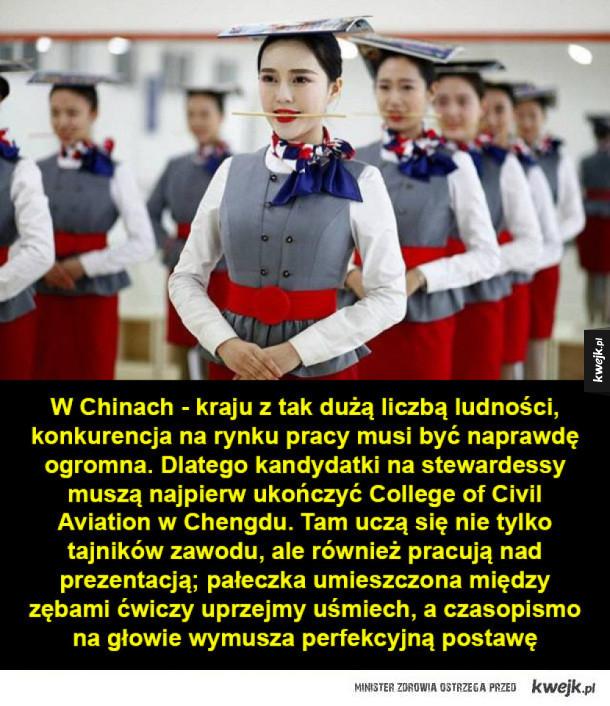 Chińska szkoła dla stewardess