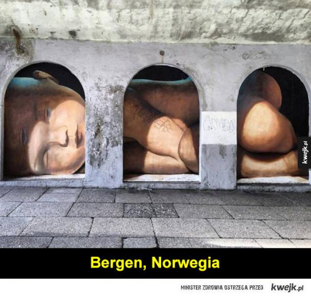 Przykłady pięknej sztuki ulicznej