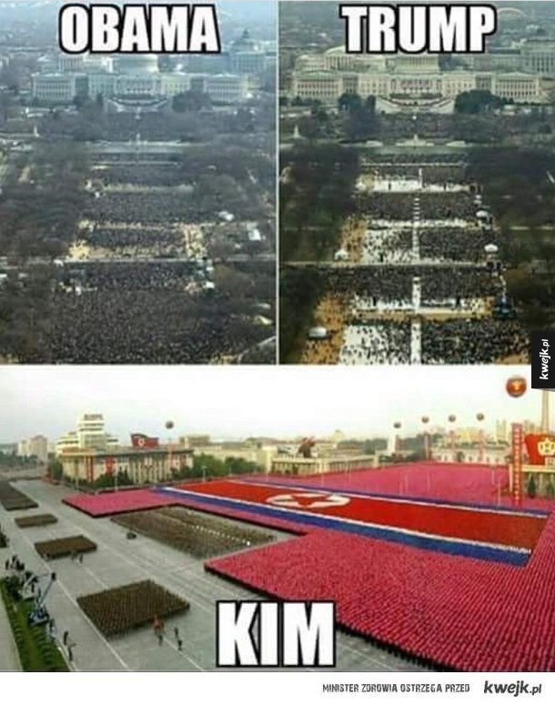 Kim zbiera tłumy