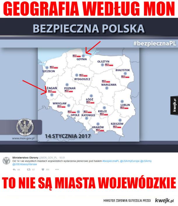 Geografia Polski według MON
