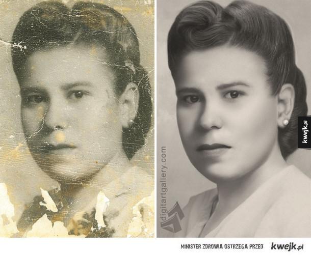 Świetnie odrestaurowane, stare fotografie